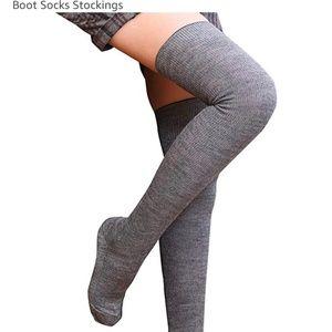 Small Grey knee high socks